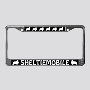 Sheltiemobile License Plate Frame