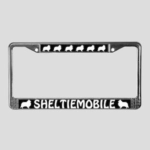Sheltiemobile License Plate Frame