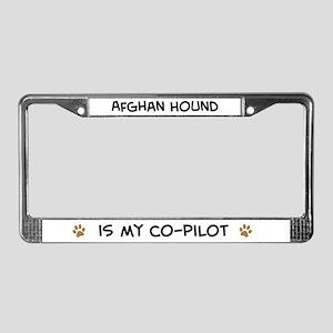 Co-pilot: Afghan Hound License Plate Frame