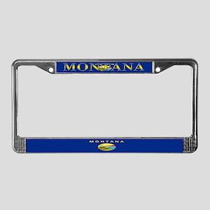 Montana State Flag License Plate Frame