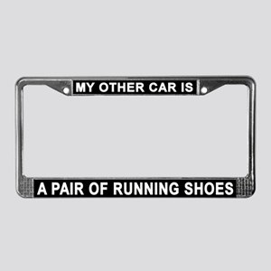 Running Shoes License Plate Frame