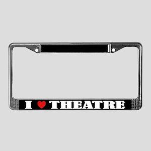 I Love Theatre License Plate Frame