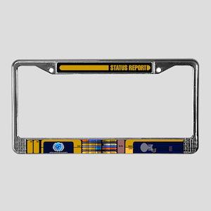 Star Trek LCARS Status Report License Plate Frame