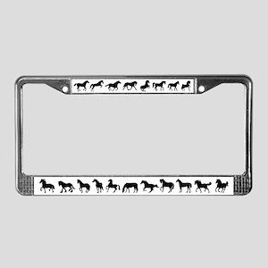 Horse Lover's License Plate Frame