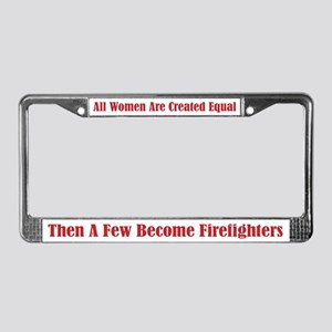 Female Firefighter License Plate Frame