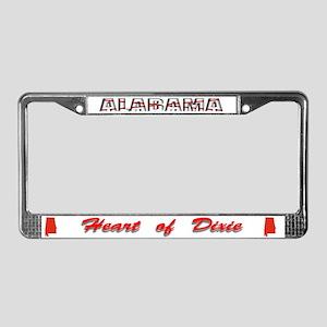Alabama Flag Drk License Plate Frame