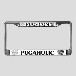 PugaHolic License Plate Frame