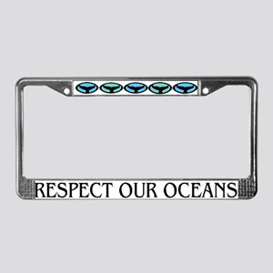 Whale Dolphin Art Respect License Plate Frame