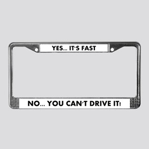 Fast Car License Plate Frame