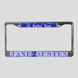 I'd Rather Read... License Plate Frame