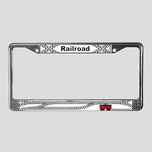 Railroad Tracks License Plate Frame