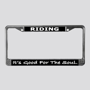 Riding License Plate Frame