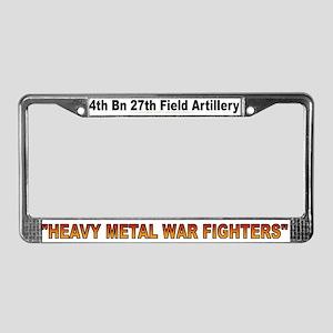 4th Bn 27th FA License Plate Frame