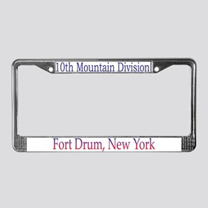 10TH MOUNTIAN DIV License Plate Frame