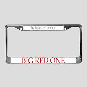 1ST INF DIV License Plate Frame