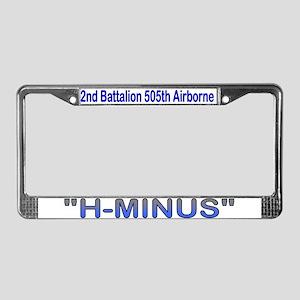 2nd Bn 505th ABN License Plate Frame