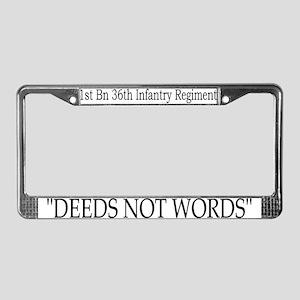 1st Bn 36th Inf License Plate Frame