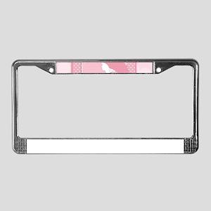 pink pregnancy License Plate Frame