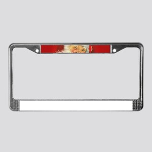 Vintage Christmas Santa Claus License Plate Frame
