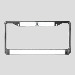 8 year old birthday designs License Plate Frame