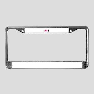 Spilled Nail Polish License Plate Frame