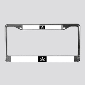 Pirate License Plate Frame - Calico Jack Flag