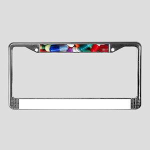 pills drugs License Plate Frame