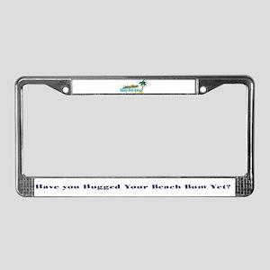 Beach Bum License Plate Frame