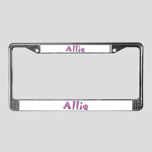 Allie Pink Giraffe License Plate Frame