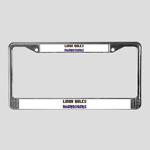 Linux Rules...Microsucks License Plate Frame