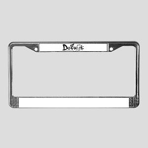 DeFunk Headphone Logo License Plate Frame