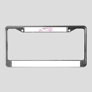 Adopt Pink License Plate Frame