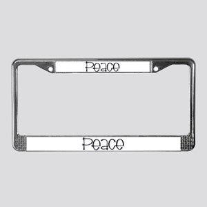 Peace License Plate Frame