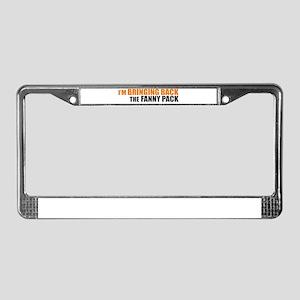Bringing Back Fanny Pack License Plate Frame