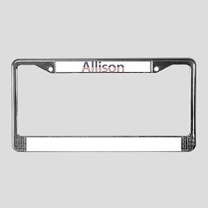 Allison Stars and Stripes License Plate Frame