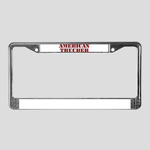 American Trucker License Plate Frame