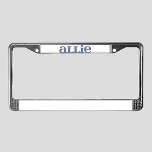 Allie Blue Glass License Plate Frame