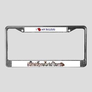 Bulldog License Plate Frame
