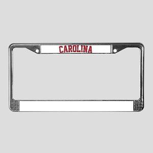 Carolina Jersey VINTAGE License Plate Frame