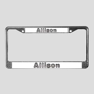 Allison Wolf License Plate Frame