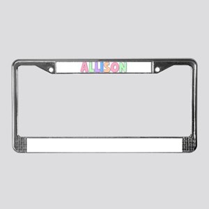 Allison Rainbow Pastel License Plate Frame