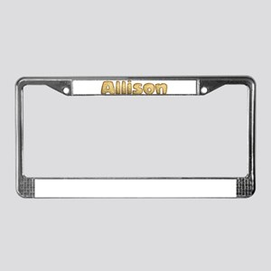 Allison Toasted License Plate Frame