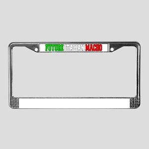 Future Italian Macho Baby Hat License Plate Frame