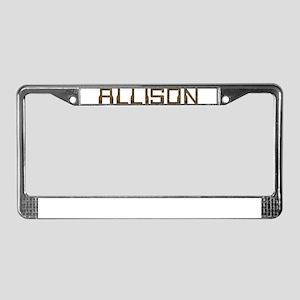 Allison Circuit License Plate Frame