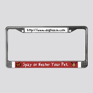 Too Few Homes Spay & Neuter License Plate Frame