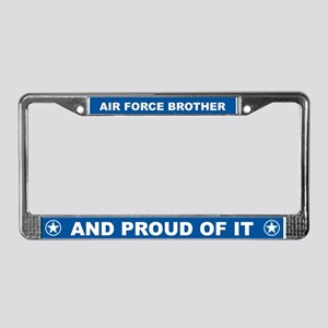 Air Force Brother License Plate Frame