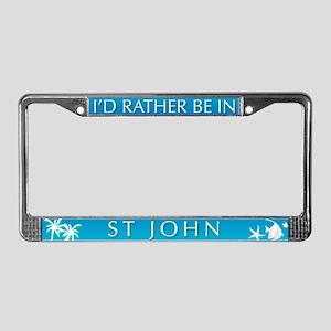 St John License Plate Frame