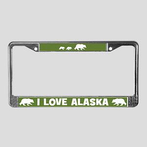 I Love Alaska License Plate Frame