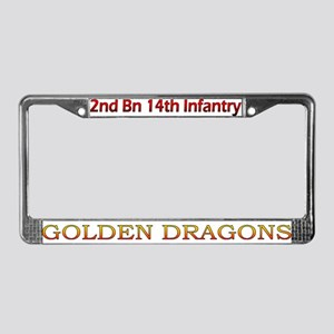 2nd 14th Inf Reg License Plate Frame