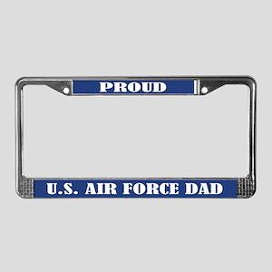 Proud U.s. Air Force Dad License Plate Frame